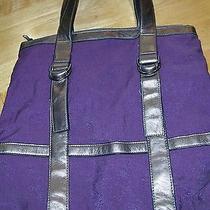Lulu Purple Polyester and Vinyl Purse Reduced Price Photo