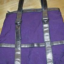 Lulu Purple Polyester and Vinyl Purse Reduced Price Photo