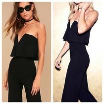 Lulus Black Jumpsuit Size Small Photo