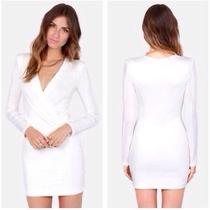 Lulu's Classy White Dress Photo