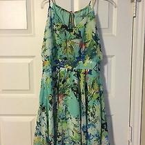 Lulu's Fun-Tasia Green Print Dress Size L Photo