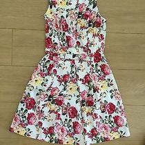 Lulu's Ivory Floral Print Dress Size S Nwot Photo