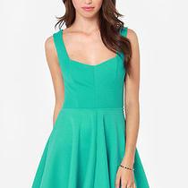 Lulu's Others Follow Grainline Sea Green Dress Women's Size Medium Photo