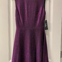Lulu's Purple Glitter Skater Fit Flare Short Dress - Size Small - New Years Eve Photo