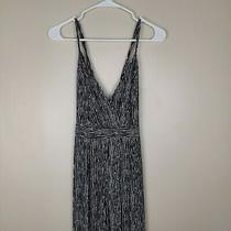 Lulu's S Black & White Striped Jumpsuit Loose Legs Ties & Criss Cross on Back Photo