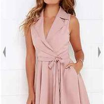 Lulus Singing in the Rain Sleeveless Blush Pink Dress Size M Photo