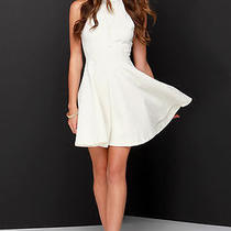 Lulu's White Graduation Other's Follow Skater Dress Photo