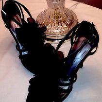 Lulu Townsend Black Formal Rosalyn Sandal 7.5 Photo
