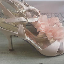 Lulu Townsend Floral Heel Blush Lilli Sandal / Wedding Shoes Photo