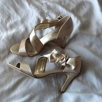 Lulu Townsend Gold Champagne Wedding Shoes Photo