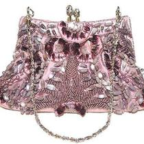 Lulu Townsend Pink/lilac Beaded Handbag Purse Clutch Nwt  Photo