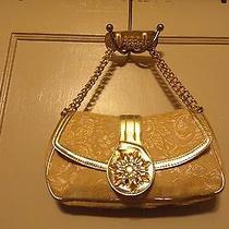 Lulu Yellow Gold Jacquard Embellished Small Hand/shoulder Bag Purse  Photo
