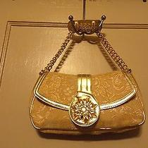 Lulu Yellow Gold Jacquard Embellished Small Hand/shoulder Bag Purse  Photo