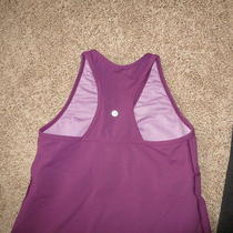 Lululemon Athletic Tank  Purple Workout Spin Yoga Size 8/10 Mint Lulu Photo