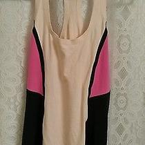 Lululemon Cool Racerback Tank Top Women Surf Bonded Pink Black Blush Size 6 Euc Photo