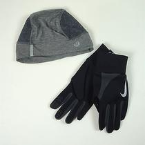 Lululemon Cool Running Toque O/s  & Nike Element Thermal Run Gloves L Photo