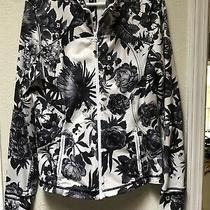 Lululemon Define Forme Jacket Size 12 Brisk Bloom Floral Black White Long Length Photo