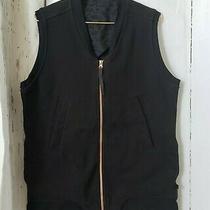 Lululemon Departure Vest Black Animal Print Rose Gold Zipper Size 8 Vguc Photo