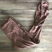 Lululemon Mauve Blush Pink Hi Rise Full Length Leggings Ruched Legs Size 8 Photo