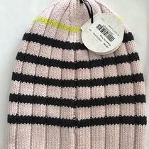 Lululemon O/s Blissed Out Toque Hat Merino Wool Blush Pink Deep Coal Black Photo