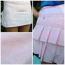 Lululemon Pacesetter Skirt 4 Shimmer Sparkle Blush Quartz Wee Stripe Skort Slalo Photo