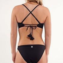 Lululemon Reversible One Piece Heatwave Monokini Swimsuit  Black Fossil Size 6 Photo