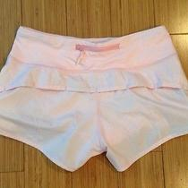 Lululemon Run Blush Quartz  Shimmer Pink Speed Shorts Sz 2 Photo