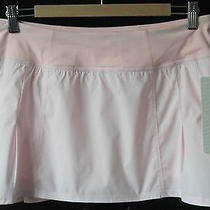 Lululemon Run in the Sun Skirt Sz 8 Wee Stripe White Blush Quartz Nwt - Pink Photo