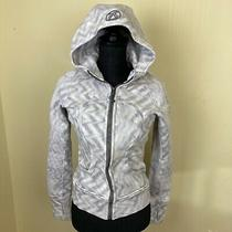 Lululemon Scuba Hoodie Full Zip  Fossil Purple White Jacket - Size 4 D1 Zig Zag Photo