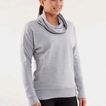 Lululemon Size 2 Rest Day Pullover Sweatshirt Heathered Fossil Small Extra Small Photo
