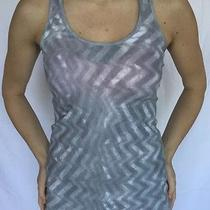 Lululemon Size 6 Cool Racerback Tank Fossil Gray White Running Yoga Top Crb Euc Photo
