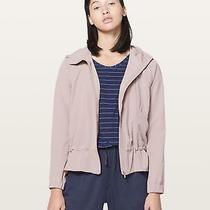Lululemon Smoky Blush Pack It Up Windbreaker Zip Up Jacket Size 4 Photo