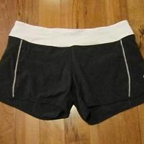Lululemon Speed Shorts in Black and Blush Pink Size 10  Photo