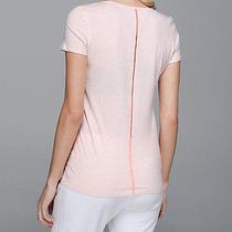 Lululemon Superb Tee Short Sleeve Heathered Blush Quartz Size 4 Nwt Photo