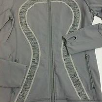 Lululemon Sz 6 Stride Jacket Fossil Coal Gray Wee Are From Space Zip Up Like New Photo