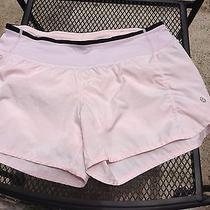 Lululemon Turbo Shorts Blush Pink Quartz Shimmer Size 4 Photo