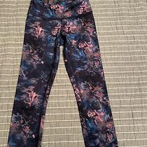Lululemon Womens Leggings Size 2 Crop Mini Blush Blossom Pink/blue Photo