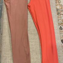 Luluroe Tween Leggings Coral Blush Two Pair Photo