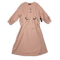 Lulus Gwendolen Blush Pink Belted Midi Shift Dress Size Xl New Photo