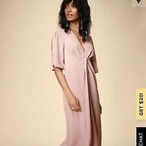 Lulus My Type Blush Pink Midi Dress - Nwt - Small Photo