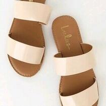 Lulus Time to Chill Nude Slide Sandal Size 8.5 Color Beige Photo