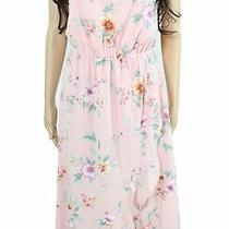Lush Sheath Dress Blush Pink Green Size Xs Junior Ruffle Floral-Print 56- 649 Photo