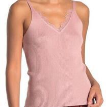 Lush Women's Top Classic Blush Pink Size Small S Ribbed Lacetank 35- 955 Photo