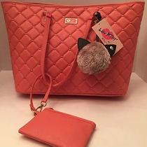 Luv Betsey Betsey Johnson Nwt Blush Tote With Wristlet and Cute Stuffed Charm Photo