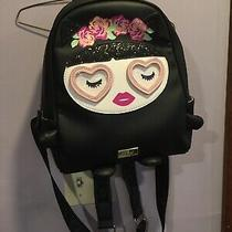 Luv Betsey by Betsey Johnson  Black Girl Heart Eyes Backpack Ecu Mint Photo