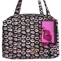 Luv Betsey Johnson Lb41019 Blush Lips Quilted Weekender Bag  Makeup Case Photo