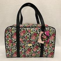Luv Betsey Johnson Leopard Floral Weekender Duffle Bag  Heart Charm Luggage Set Photo