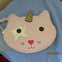 Luv Betsey Johnson Unicorn Cat Wristlet/coin Purse/wallet Lavender Rare Photo