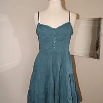 Lux Urban Outfitters Cute Blue Tiered Full Skirt Boho Gypsy Sundress Dress M  Photo