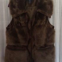 Luxe Rachel Zoe Cognac Faux Fur Vest Photo